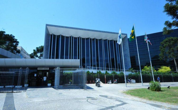 Fachada Assembleia Legislativa do Paraná.